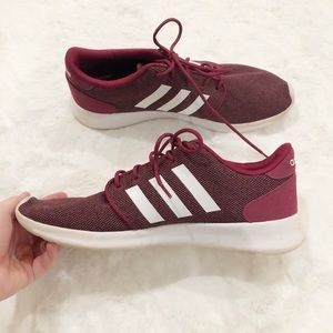 Adidas Cloudfoam QT Racer Shoes Size 10 Burgundy